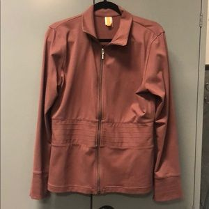 Lucy athletic jacket-New WO tags.Mauve solid/soft.